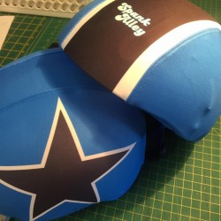 Deluxe 3 colour Helmet Covers (pair 1 x Jammer, 1 x Pivot)
