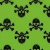 Skulls - Green & Black